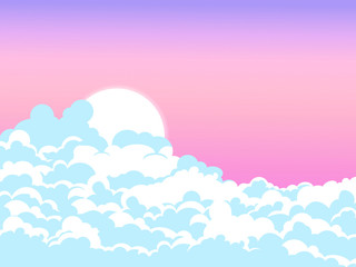 Sky and clouds background design