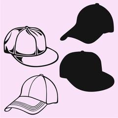 baseball cap vector silhouette isolated