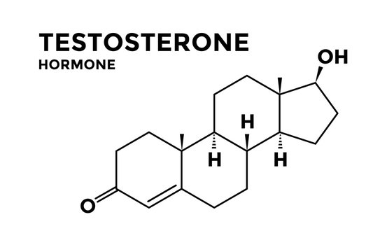 Testosterone male hormone structural chemical formula