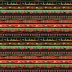 Foto op Canvas Boho Stijl Ethnic boho seamless pattern