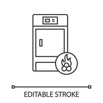 Solid fuel boiler linear icon