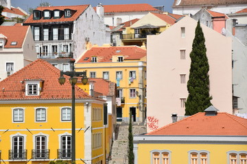 Sanierte Altstadt in Lissabon