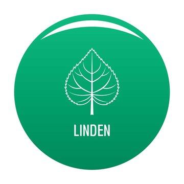 Linden leaf icon. Simple illustration of linden leaf vector icon for any design green