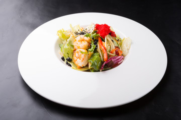 Elegant fresh prawn salad