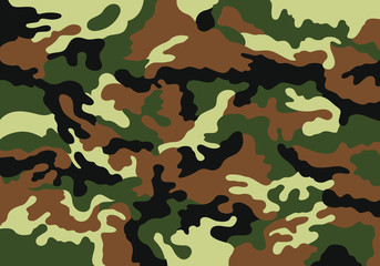 Print on clothes with abstract texture of camouflage