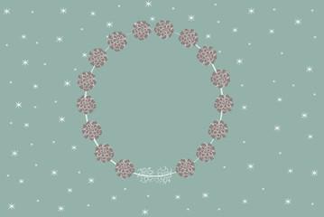 Winter flower frame