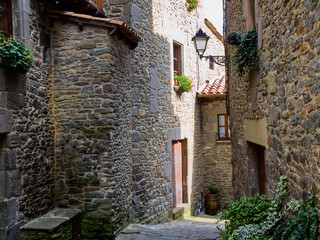 The medieval city of Rupit in Spain