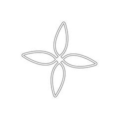 Flower - thin line sign