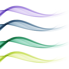 Set of backgrounds with abstract color waves