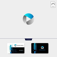 photography hexagon logo template, business card design template
