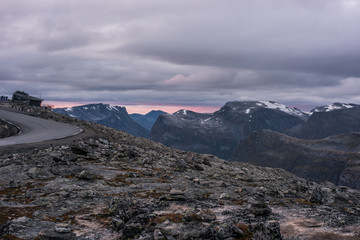 Dramatic view from Dalsnibba, Norway.