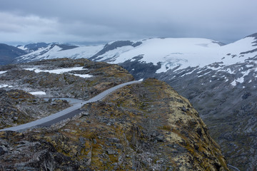 Dramatic view of road leading up to Dalsnibba, Norway.