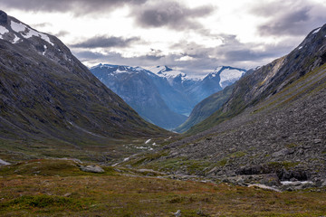 Natural mountain landscape in Norway.