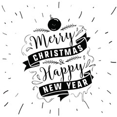 Merry Christmas typography.
