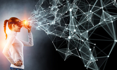 Future of virtual technology. Mixed media
