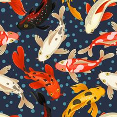 Koi carp pattern, japan style traditional design