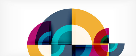 Circle abstract background, geometric modern design template