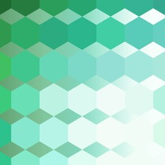 Colorful green Hexagon Background. vector abstract illustration