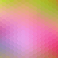 Light Pink, Yellow vector texture with colorful hexagons. Illustration of colored hexagons on white surface. New design for website's poster, banner. eps 10