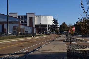 Manning Way to Vaught-Hemingway Stadium at the University of Mississippi