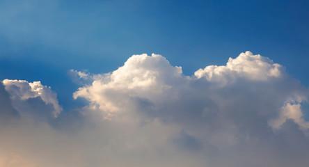 Panoramic cloud sky