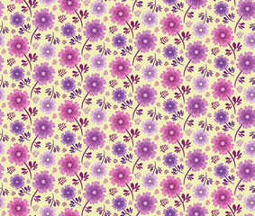 Spring Hope Pink and Purple Florals
