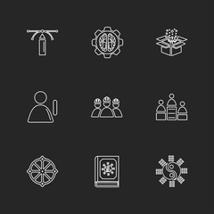 religion , networks , team , science , eps icons set vector