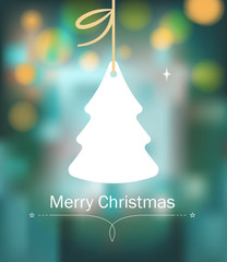 Christmas background with tree