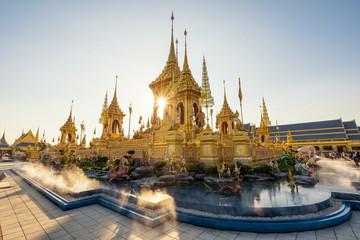 Golden Royal Cremation in Bangkok