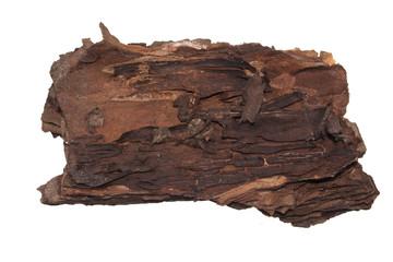 bark isolated on white background