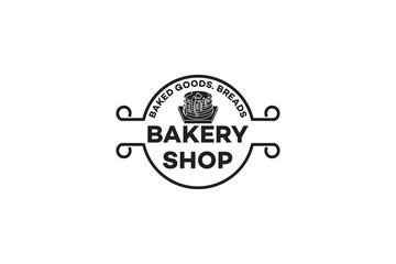 vintage cupcake bakery shop logo