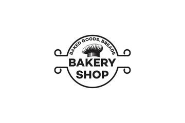 Chef Hat, Vintage Bakery Logo