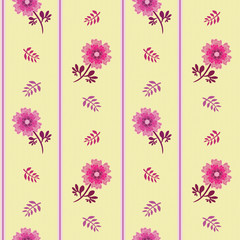 Spring Hope Pink Florals and Stripes