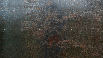 Close up of an iron plate has a rusty for an abstract background. Wall mural