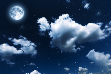 backgrounds night sky with stars and clouds.