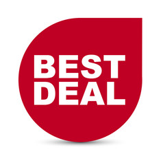 red vector banner best deal