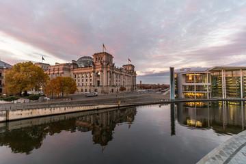 Regierungsviertel in Berlin an einem Wintermorgen