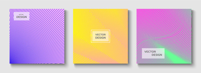 Set of gradients.  Geometric design.  Vector backgrounds. Creative templates, cards. Frame. Web-banner