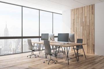 Luxury wooden coworking office