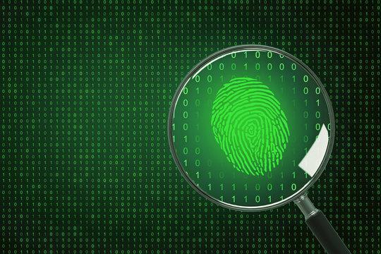 Biometrics and computing concept
