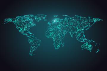 Creative digital map background