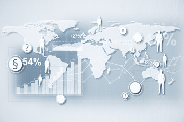 Global business and trade concept