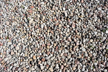 Pebble stones, closeup view, background, texture