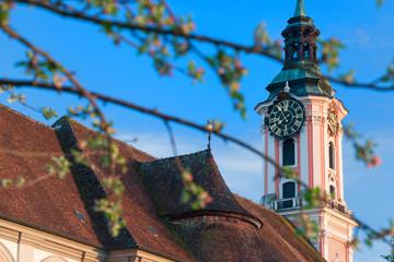 Glockenturm der Klosterkirche Birnau am Bodensee