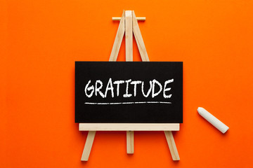 Gratitude Word On Blackboard