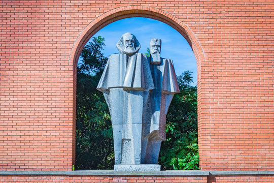 Marx and Engels sculpture at Letna Park  (Budapest, Hungary)