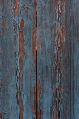 Old blue and brown painted wooden rustic background
