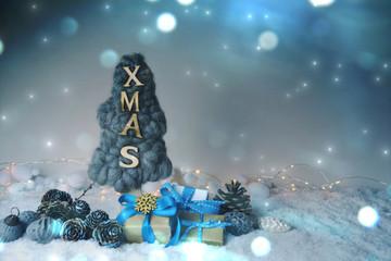 kleiner Weihnachtsbaum xmas - Weihnachtskarte