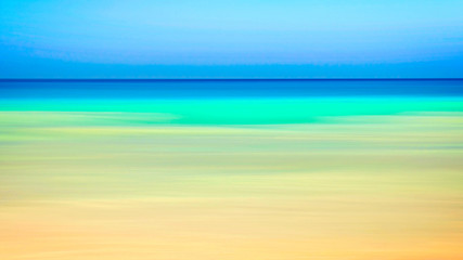 Empty sea and beach background with copy space, Long exposure, blur motion