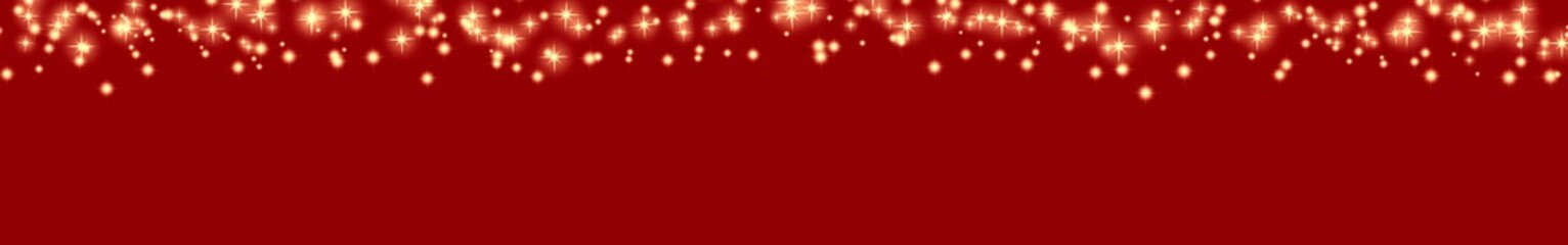Roter Hintergrund mit funkelnden Sternen